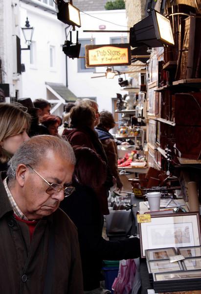 Vernon Yard antiques arcade off Portobello Road London March 2008
