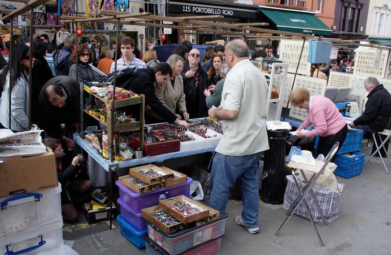 Toy soldier stall at Portobello Road Market London