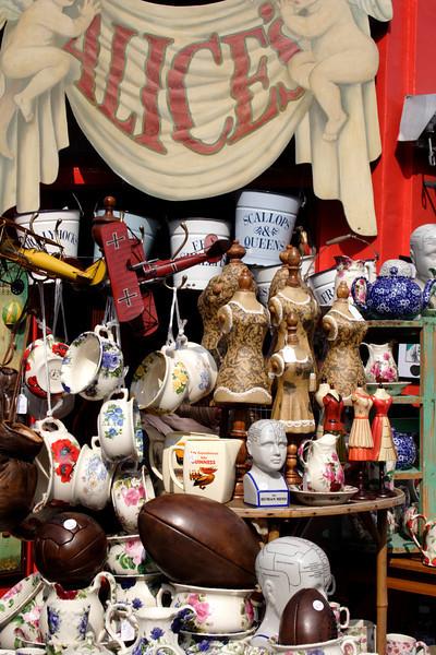 Antiques for sale at Alice's shop Portobello Road London