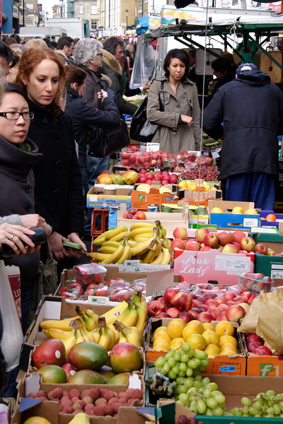 Fruit stall Portobello Road Street Market London