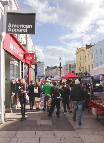 People shopping at Portobello Road London