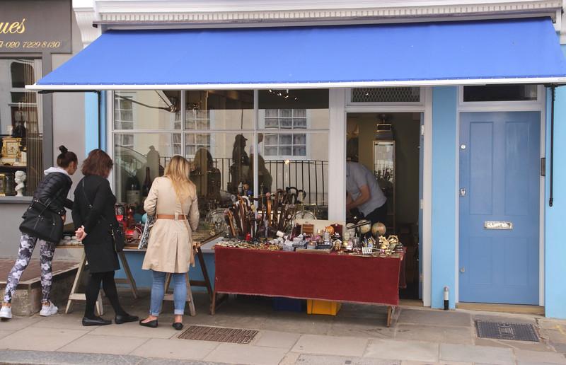 Antiques shop Portobello Road Notting Hill London