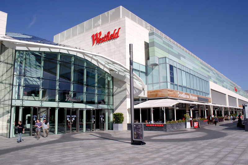 Entrance to Westfield Shopping Centre Shepherds Bush London