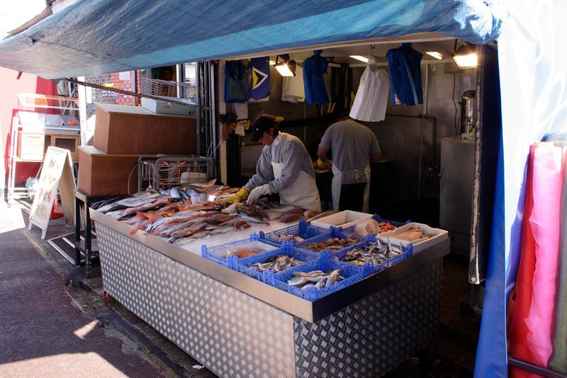 Fish stall Shepherds Bush Market London