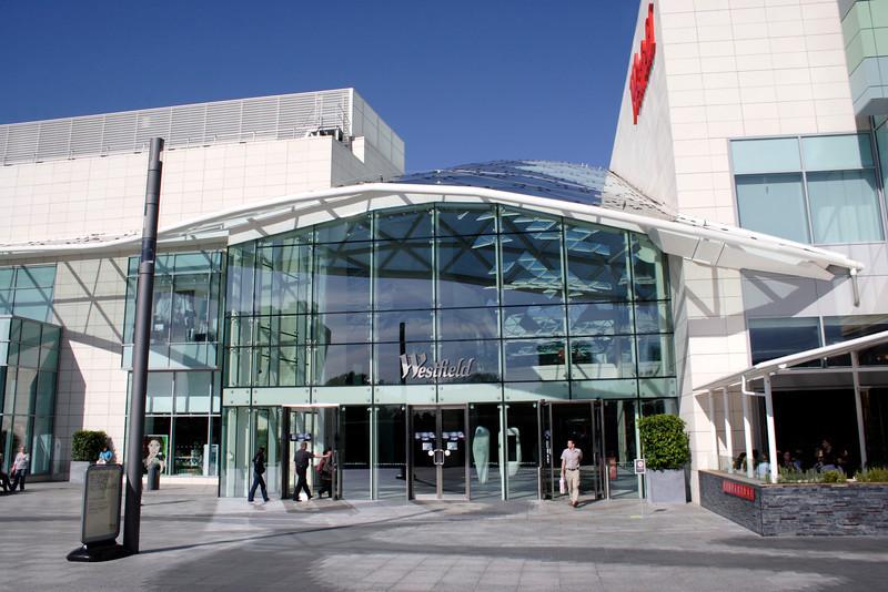 Entrance to Westfield Shopping Centre Shepherds Bush London