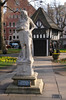 Soho Square and statue of Charles II London