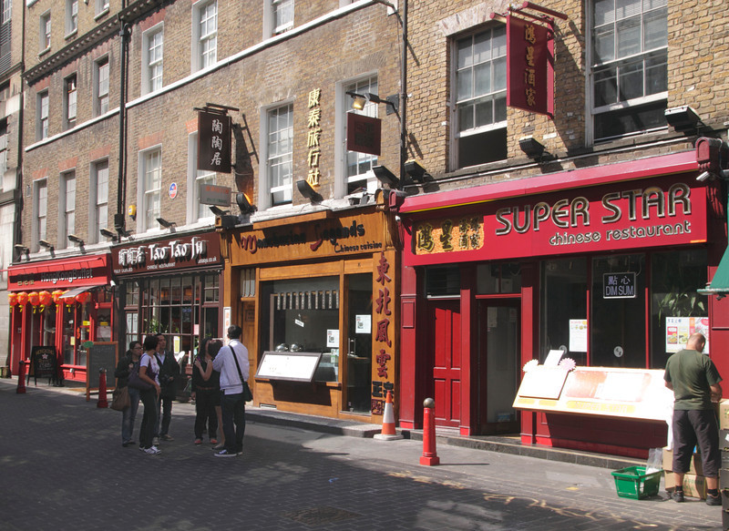 Chinese restaurants in Lisle Street Chinatown Soho London