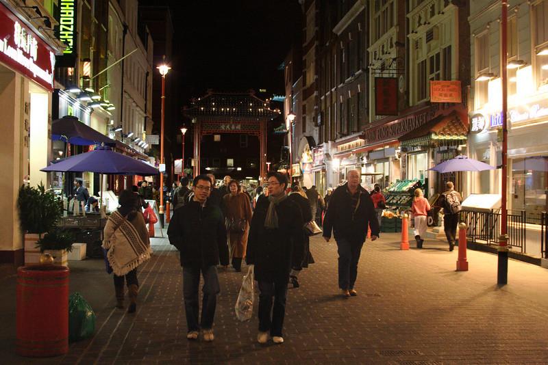 Chinatown London at night January 2008