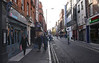 Street scene Old Compton Street Soho London November 2007