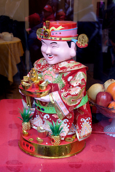 Ornament in a Chinese Restaurant Chinatown London February 2009