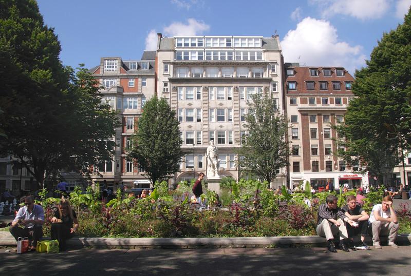 Golden Square Soho London summer 2013