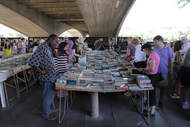 Book Market at the South Bank London summer 2010
