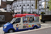 Ice Cream Van and Globe Theatre South Bank London May 2010
