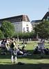 Park near the London Eye South Bank summer 2010