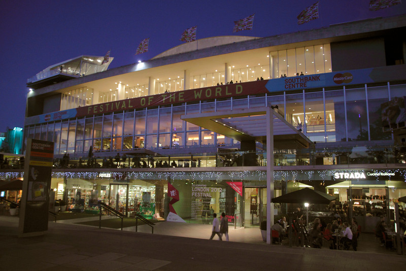 Royal Festival Hall South Bank London at night June 2012