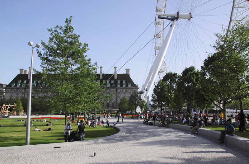 Jubilee Gardens South Bank London summer 2012