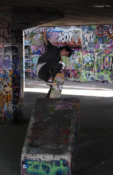 Skateboarder South Bank London