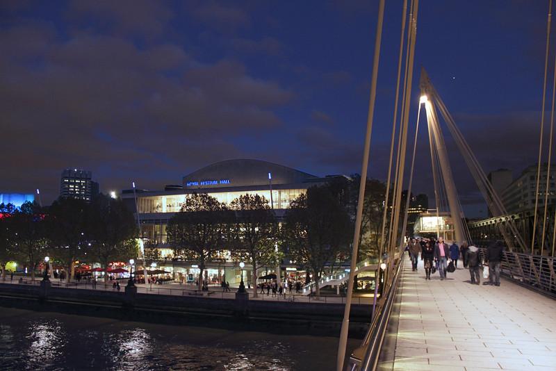 Hungerford Bridge at night London November 2010