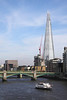 River Thames skyline London and The Shard June 2012