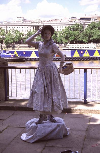 Human Statue South Bank London