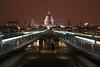 Millenium Bridge London at night 2007