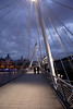 On the Hungerford Bridge London
