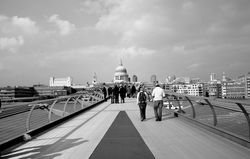 On the Millenium Bridge London