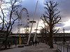 London Eye and South Bank promenade London February 2007