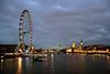 River Thames and London Eye at night London