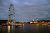 River Thames and London Eye at night London
