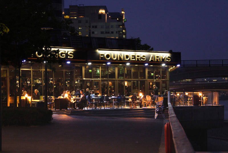 Founders Arms pub South Bank London 2007