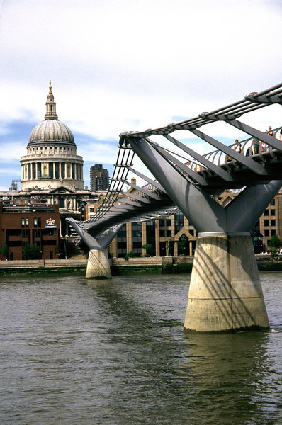 Millenium bridge and St Paul's Cathedral London