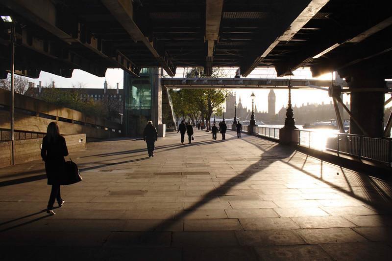 Underneath the Hungerford Bridge South Bank London November 2007