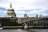 Millenium bridge and St Paul's Cathedral London