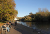 Lake at St James's Park London towards Whitehall Autumn 2010