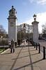 Pedestrians near Buckingham Palace and St James's Park London Winter 2006
