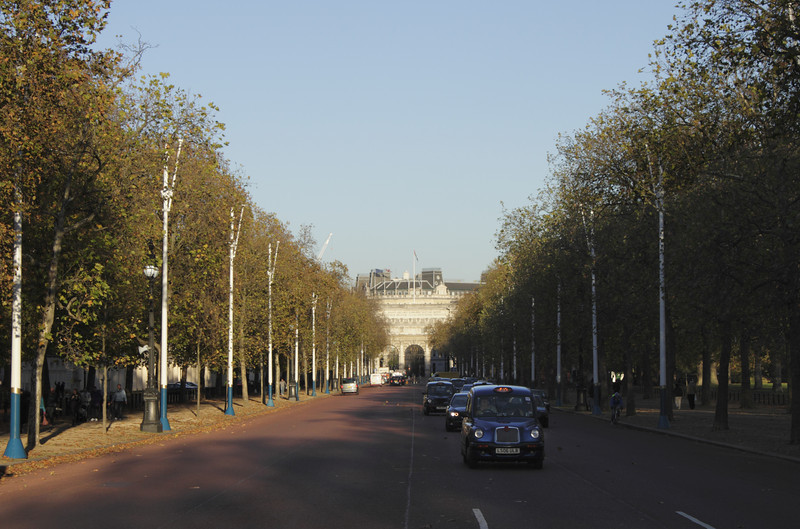 The Mall London towards Admiralty Arch Autumn 2010