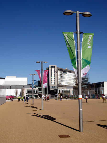 Pedestrian access to the Olympic Park Stratford London
