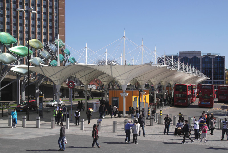 Bus Station by the Stratford Centre London