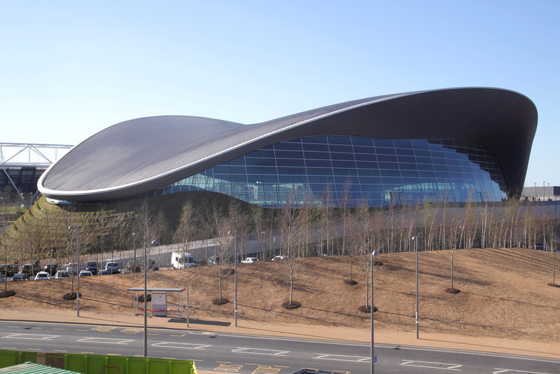 Aquatics Centre at the Olympic Park Stratford London