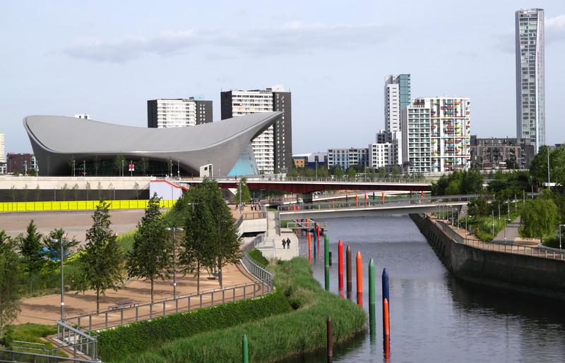 River Lea Olympic Park Stratford London