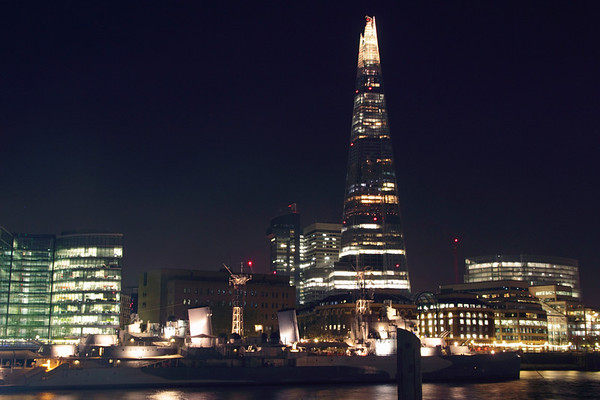 The Shard London at night