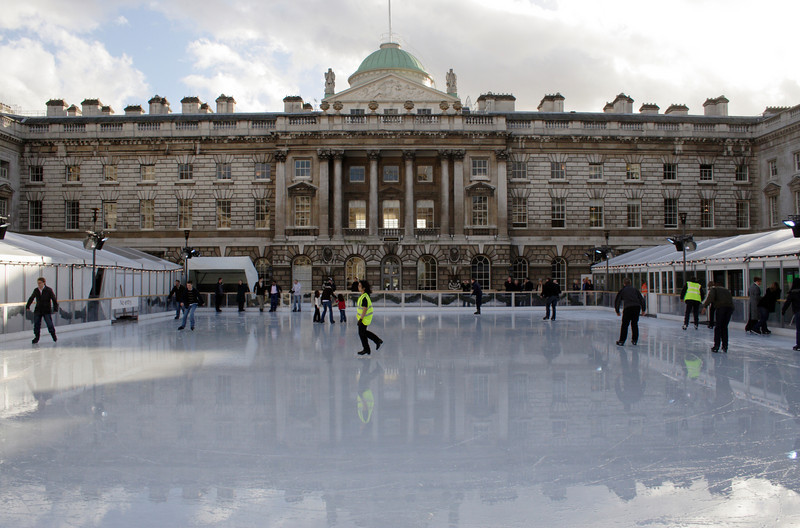 Ice skating rink Somerset House London