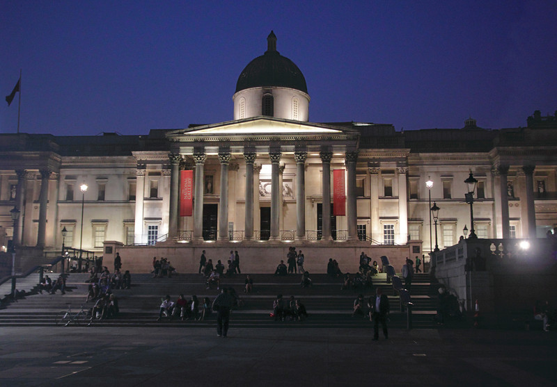 National Portrait Gallery London at night