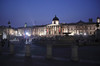 Trafalgar Square and National Portrait Gallery London at night