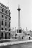 Nelsons Column Trafalgar Square London in winter