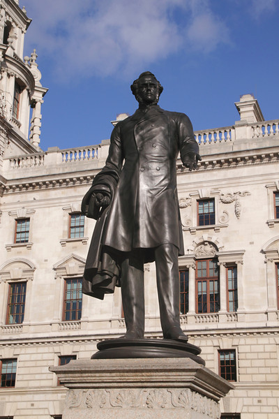 Statue of Viscount Palmerston Parliament Square Westminster London