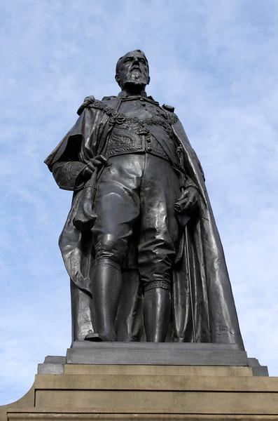 Statue of Spencer Compton eight Duke of Devonshire Whitehall London