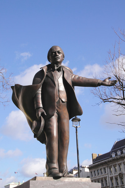 Statue of Lloyd George at Parliament Square Westminster London
