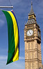 Mauritius Flag and Big Ben Westminster London June 2012